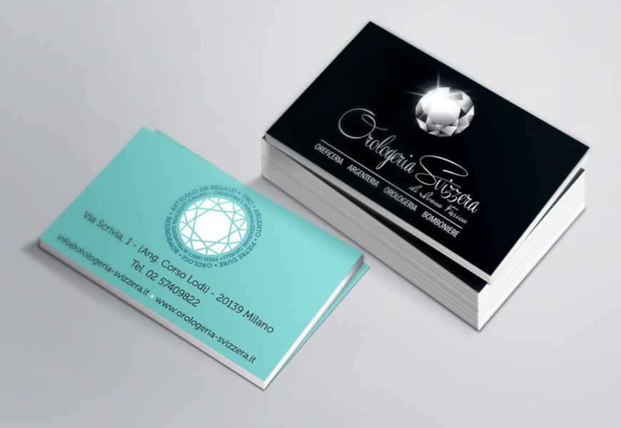 Orologeria Svizzera biglietto da visita