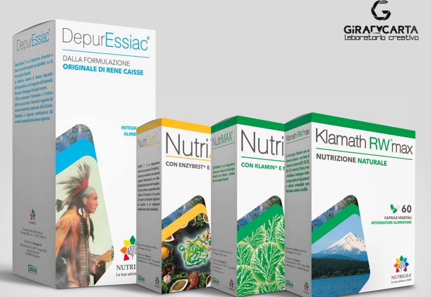 Nutrigea – Packaging prodotti parafarmacia (integratori)
